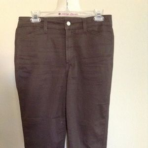 Not Your Daughters Jeans - Capri Chino Brown 8 $49